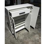 ADVANTE Modern Gloss 3DR White Shoe Cabinet