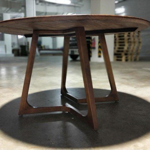 RASSONE Solid Round Wooden Dining Table