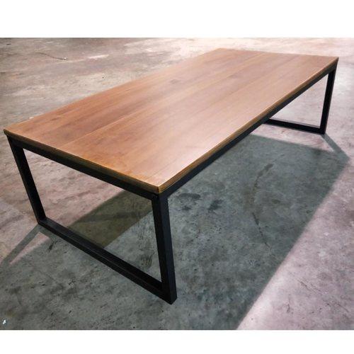 MOFFI Rustic Solid Wood Coffee Table