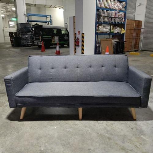 HANNA II Sofa Bed in GREY FABRIC