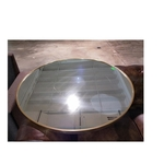 VAKA Brushed Gold Frame Round Mirror