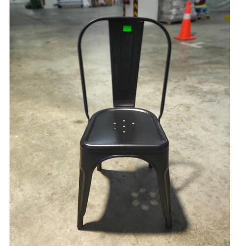 VADO Retro Metal Chair in BLACK