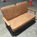 ANILA 2 Seater Sofa in CLASSIC BROWN PU