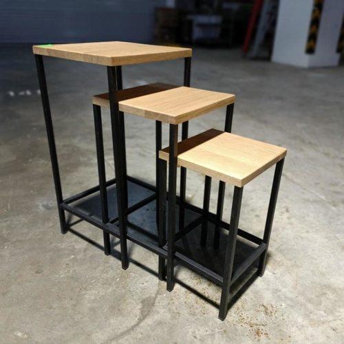 KATEY Solid Wood Nesting Table Set