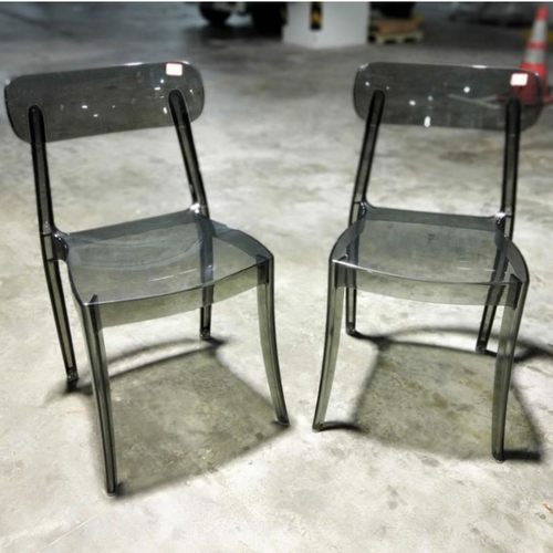 Pair of LYNETTE Chair in KLEA SMOKE
