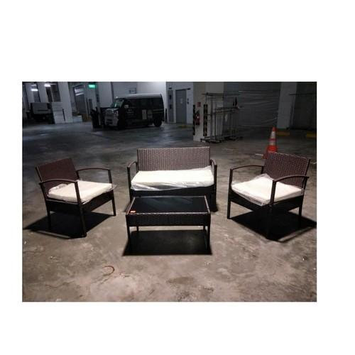 LAVORA Synthetic Rattan Outdoor Sofa Set