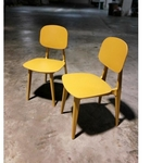 Pair of JERLIA Dining Chair in MUSTARD Yellow
