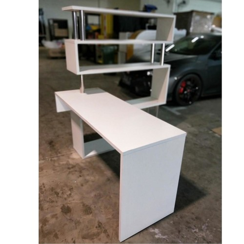 ONEIL Modern Modular Study Table on WHITE 100