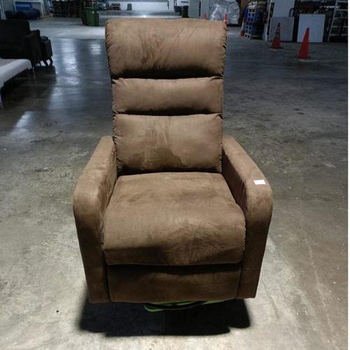 RAXO SWIVEL Based Recliner Chair in BROWN FABRIC