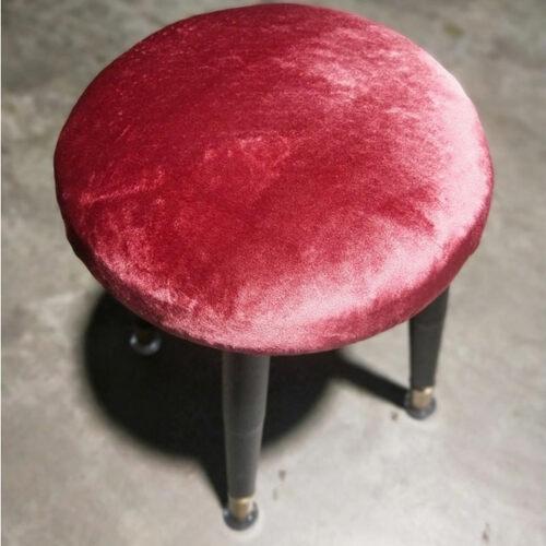 BOSTAN Red Velvet Modern Stool