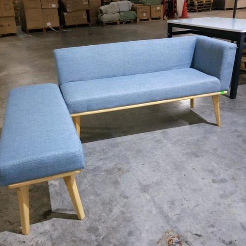 HEINDLE II Modern Fabric Dining Bench B Set