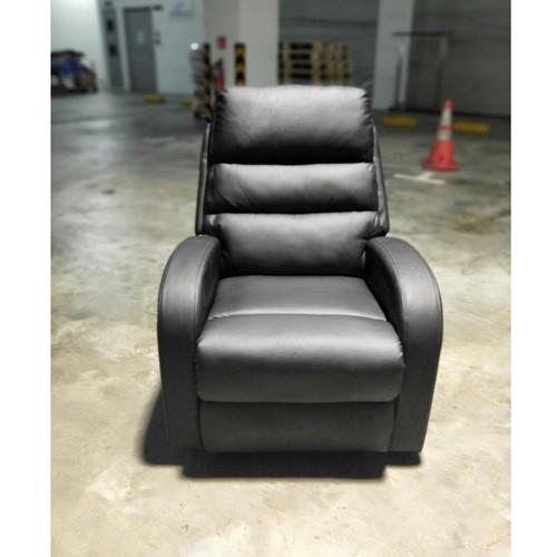 ELLEY Recliner Chair in BLACK PU