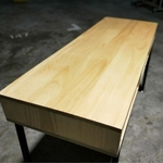 ELEICE Modern Industrial Solid Wood Study Table