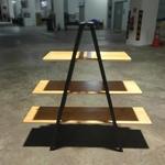 KORTNEY II INDUSTRI Series Solid Wood Display Shelf