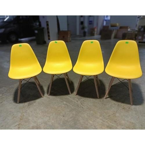 4 x RAZ Eames Designer Chair in YELLOW