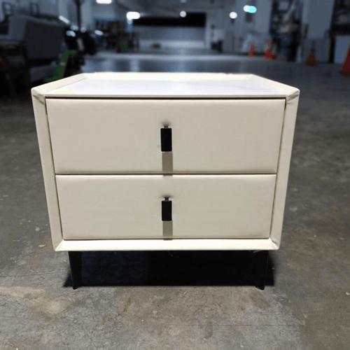 FENDELL Side Table in Cream White