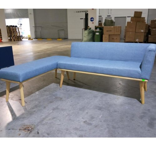 HEINDLE II Modern Fabric Dining Bench B Set