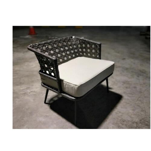 LORALE Wicker Patio Chair