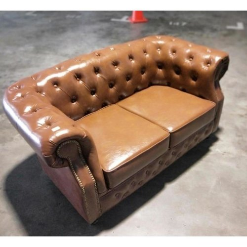 (PRE-ORDER) BOTTEVA 2 Seater Chesterfield Sofa in BROWN PU - Estimated Delivery in Mid August 2021
