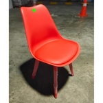 4 X VARIS Designer Dining Chairs in FLAMING RED