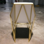 KRAFT X Frame Dining Chairs in WHITE on GOLD Frame