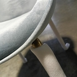 2 X VOLKZ Chair in VELVET LIGHT GREY with Gold Frame