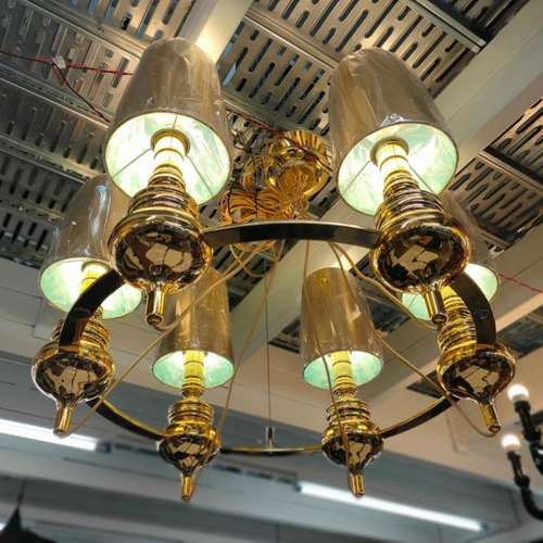 MANSORE GOLD M6 Chandelier Lamp MD20091-6