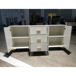 VIVA LARGE Sideboard in White with Gold Accents