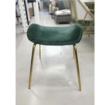 VOLKZ Stool in EMERALD Green and Gold Frame