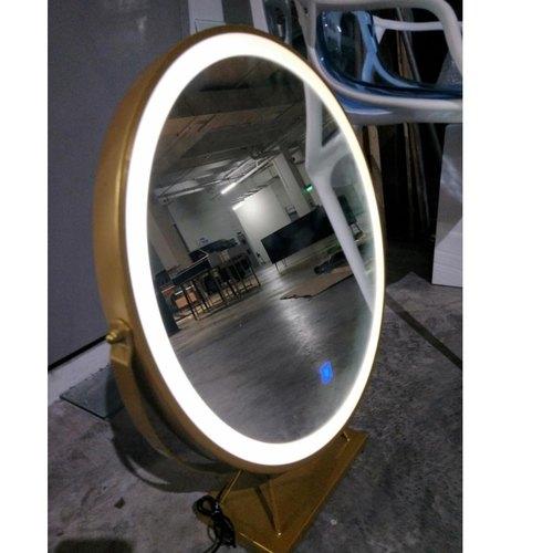 REINA Modern LED Vanity Mirror with MATTE GOLD FRAME