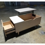 KEFFITO Coffee Table with FLIP UP Table Top