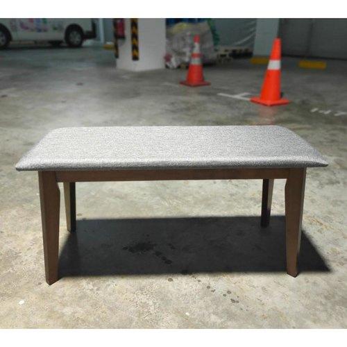 TITAN Bench in Grey Fabric and Dark Cappucino Frame