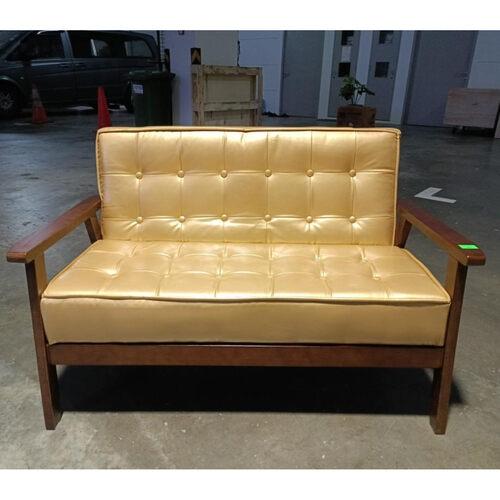 VANZ 2 Seater Sofa in Gold PU
