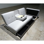 MIKO Storage Sofa Bed in LIGHT GREY FABRIC