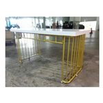 RONINA Modern and Contemporary Golden Grills Dining Table