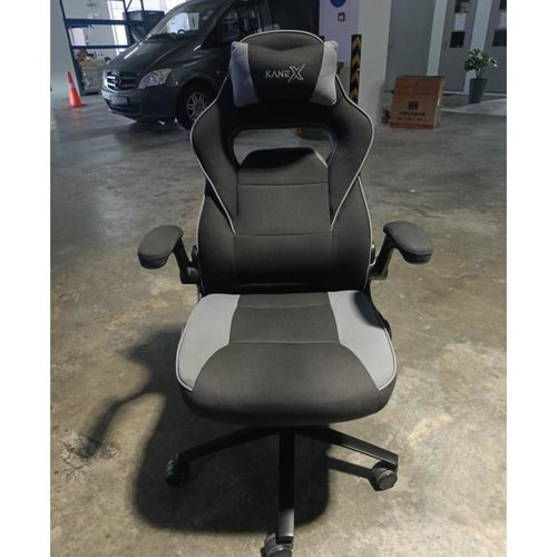 KX Professional Gaming Chair in BLACK & GREY Fabric
