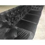 (PRE-ORDER) SALVADO II 3 Seater Chesterfield Sofa in VELVET BLACK - Estimated Delivery in End November 2021