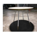 SKYE Dining Table in WHITE MARBLE PRINT