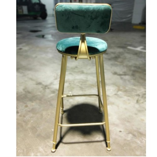 GASTAVIA Modern Emerald Green Velvet Bar Stool