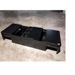 GARRIS NOIR II Modern Coffee Table in BLACK