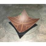 ROWANA Minimalist Tempered Glass Coffee Table