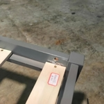 RUZENDA SINGLE Size Bed frame in Grey