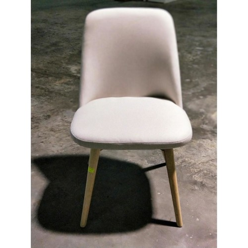 LAARA Chair in Natural Wood & Cream Cushion