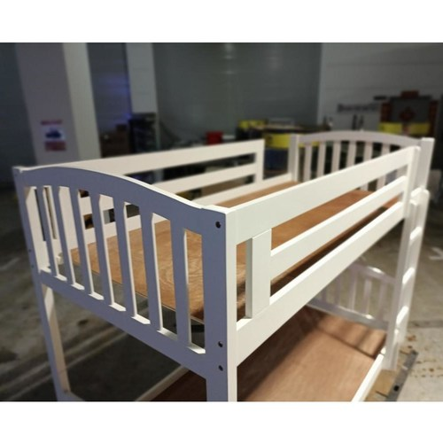 ERNEE Double Deck Bed in WHITE