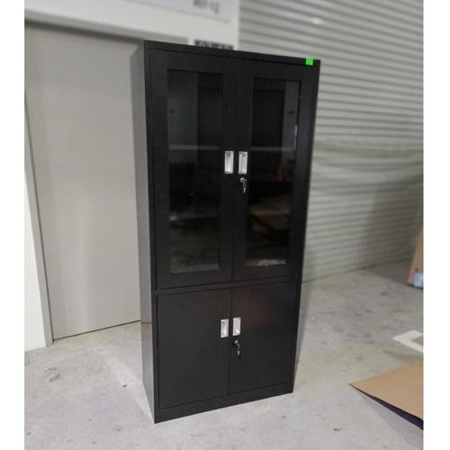 GEAR Metal Half Display Cabinet in BLACK