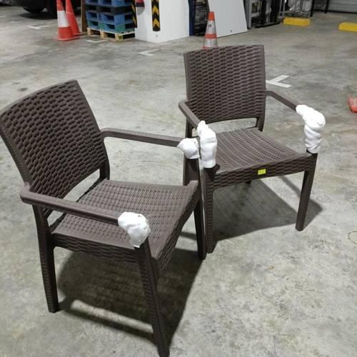 2 x LORRAINE Outdoor Armchair in COFFEE