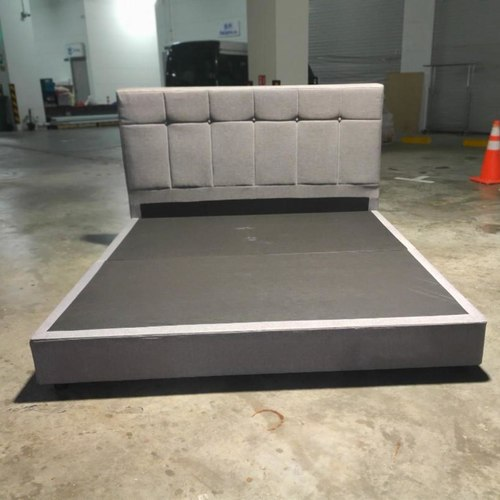 MIUGER Grey Fabric King Size Bedframe