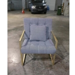 NATHANIA Armchair in GOLD FRAME