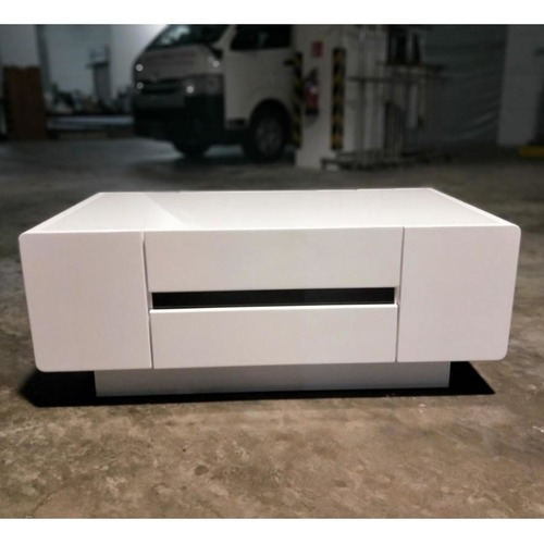BARINO Modern Gloss Lacquer White Coffee Table