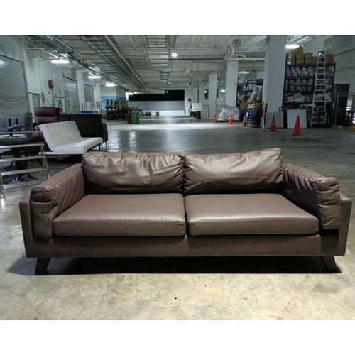 MIWAKE 3 Seater Sofa in BROWN